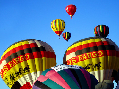 ....then gradually, more and more balloons began their climb into a perfect October sky.