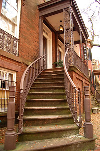 "Along Jones Street, many of the townhomes featured dramatic ""welcoming arms"" entrance ways, which added to the colonial charm...."