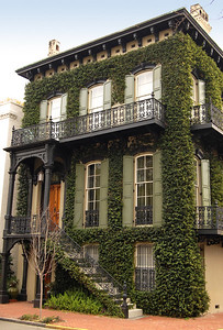 Other homes in Savannah's historic district, such as this one, have roots of a different sort.