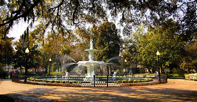 With 21 of the 24 city squares remaining from Oglethorpe's original city plan, Savannah has places for a fair number of fountains.  The largest is the one in Forsyth Park built in 1858.