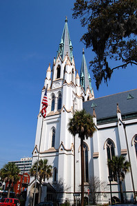 The Cathedral of St. John the Baptist is the oldest Roman Catholic church in Georgia.