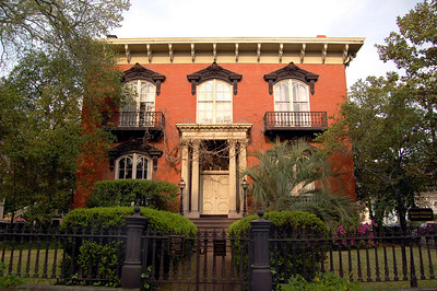 "The ""Scene of THE Crime"" - It is this house – much to the dismay of many locals – that is to Savannah what Tara is to Atlanta.  This is the Mercer House.  Here in May 1981, 50-year-old Savannah socialite Jim Williams fatally shot his 21-year-old, blond lover/assistant, Danny Hansford. Claiming self-defense, Williams was tried four times – the first Georgian to face a jury four times for the same crime – before finally being acquitted....."