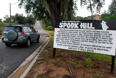 """Now lest you think that Lake Wales has only the Bok Tower Gardens, there is another """"world famous"""" attraction for visiting tourists -- the mysterious Spook Hill."""