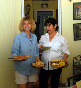 "Each evening we would all gather in the ""big house"" where Jeanne and Nancy would assist Maureen in preparing snacks for ""happy hour."""