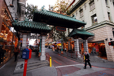 """Just five blocks away from our hotel was the entrance to San Francisco's Chinatown -- marked by the appropriately named """"Chinatown Gate"""" (the more correct name is the """"Dragon Gate"""")."""