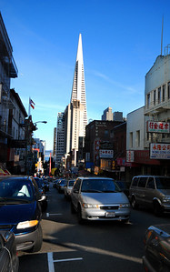 There is the omni-present Transamerica Pyramid, visible from virtually everywhere in the central city....