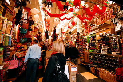 """We wandered through a Chinese """"dollar store,"""" browsing through overflowing aisles packed with virtually every item we really didn't need."""