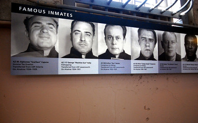Along one wall, the National Park Service had posted a lineup of some of Alcatraz's most infamous residents.