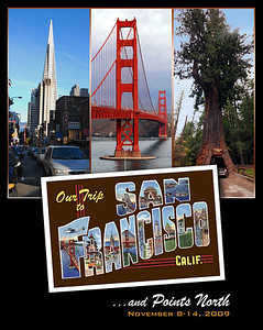 This is a photo travel log of our trip to San Francisco on November 9-14, 2009.  Our plan was to spend three days in the city exploring on foot neighborhoods that had escaped our full attention on previous visits, then head northward along the California coast.