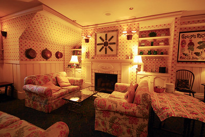 ...with a cozy gathering place for a glass of wine, heavy h'or dourves, and evening conversation with fellow guests.