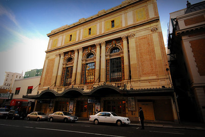 Another San Francisco landmark -- the American Conservatory Theater (formerly the Geary Theater), which first opened in 1910, with its ornate terra-cotta facade.