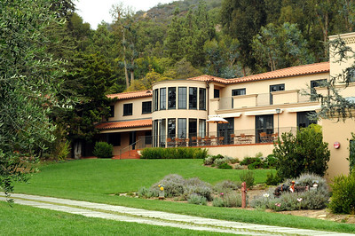 """This was J.Paul Getty's home on the property where the Villa stands today.  Ironically Getty never saw his recreated Roman villa in person.  He died at this home near London in 1976, two years after his """"living museum"""" was completed, having never visited it."""