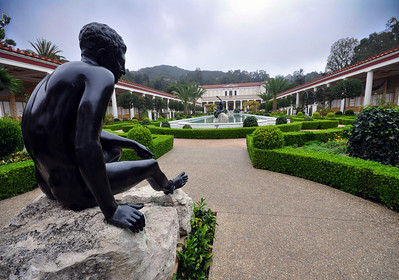Sculptures were also prominent at our next stop, the Getty Villa at Malibu.