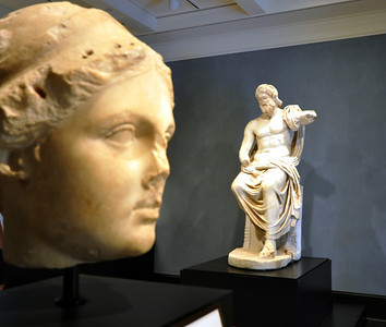Twelve hundred Greek, Roman and Etruscan artifacts from 6500 B.C. to A.D. 600 are on display at the Villa. They represent only a small portion of the Museum's collection of 44,000 items.