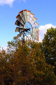Outside our room, the blades of an old windmill creaked  whenever a suitable breeze compelled them to turn.