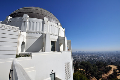 From the summit of Mount Hollywood the observatory looks out over the panorama of the Los Angeles basin.