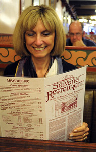 We had lunch at the Solvang Restaurant, sitting in the booth next to the one used in the Sideways movie.