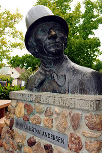 ...to its bust of Hans Christian Anderson in the town square....