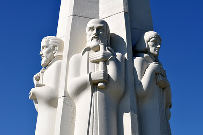 Three astronomy greats - Kepler, Galileo, and Copernicus - are among those honored on the Astronomers Monument, dedicated in 1934 and hailed as one of the most important pieces of art to be completed by a Depression-era public works project.