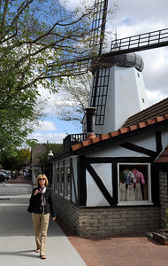 "For more than a century, the town of Solvang has clung tenaciously to its ""all Danish"" roots, from its country-style windmills...."