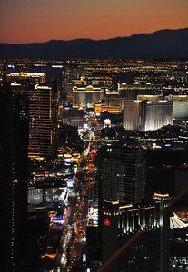 Las Vegas is quite a sight during the day, but when evening comes, it doesn't just shine, it pulsates with neon-stoked brilliance...
