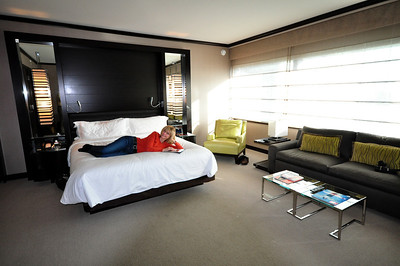 But the Vdara's rooms were spacious and quiet....