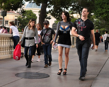 Strolling the Strip -- to see and be seen -- is a prime activity in Vegas...
