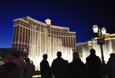 On other evenings, we joined a few hundred other visitors to watch the Bellagio's other aquatic spectacular -- its mesmerizing musical fountains.