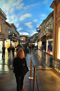 More than just slots and blackjack tables, the interiors of the mega-hotel/casinos offer a variety of alternate universes -- enticing wide-eyed shoppers to walk the streets of Paris....