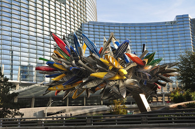 You would think that at $9.2 billion dollars, the developers could come up with something better than a bunch of old canoes and rowboats for their central sculpture.