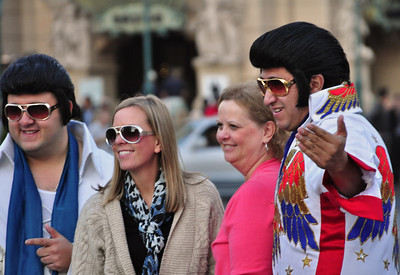"""Obviously, all it takes to be a """"Vegas Elvis"""" is the hair and the shades."""