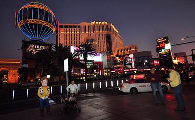 ...as was the Paris Casino's hot air balloon and the Planet Hollywood building.