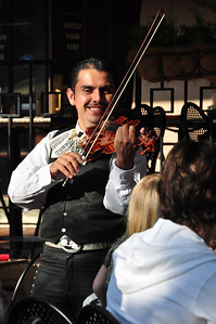 Roving mariachi minstrels will entertain you at your table....