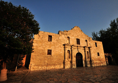 "What people call the ""Alamo"" today is the small church that occupied one corner of the mission compound.  Built originally in 1724, it was never finished.  At the time of the battle, there was no roof, and the distinctive hump on its front facade had not yet been added."