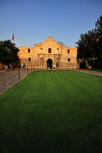 Like many visitors, we were surprised by just how small the Alamo is.  But, as we learned, much of the battle the morning of March 6, 1836, took place in the surrounding courtyard and along the mission's adobe walls -- all of which have long disappeared beneath the concrete and pavement of modern-day San Antonio.