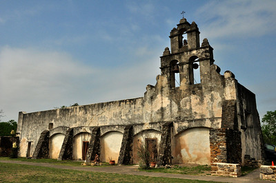 Mission San Juan Capistrano was founded in 1731.  In 1756, the stone church, a friary, and a granary were completed. A larger church was begun, but was abandoned when half complete, the result of population decline.