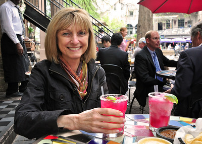 "....you can order a wide variety of margaritas -- Jeanne opted for the ""prickly pear margarita"" (along with an 'emergency backup margarita'), but though highly touted along River Walk, it's probably not one we would recommend."