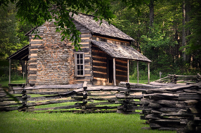 This was the earliest home in Cades Cove, built by John Oliver around 1822.  Oliver and his wife Lucretia were the first permanent settlers in the valley.
