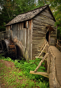 Several grist mills operated in Cades Cove.  One of the most successful -- and enduring -- was the Cable Mill, built in 1867 by its namesake, John Cable. The mill, which processed logs, wheat and corn, continued to function commercially until the 1920s.