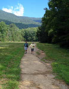 Steve and I make our way back from the John Oliver cabin through one of the scenic valleys of Cades Cove.