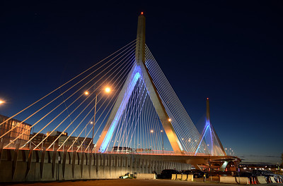 In addition to their structural function, the bridges' cables -- which suggest a ship in full sail -- also are said to evoke the history of East Boston as a center of shipbuilding.