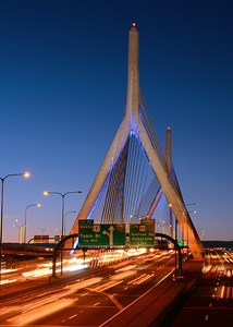 The Zakim Bridge spanning the Charles River is the widest cable-stayed bridge in the world.  Prior to the bridge being opened in 2003, 14 elephants from the Ringling Bros. and Barnum & Bailey Circus were marched across it to demonstrate its strength. The elephant march mimicked tests from the 1800s when bridge engineering was more questionable.