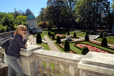 Jeanne observes Mr. Berwind's lavish sunken garden and wonders why I can't create one just like it.