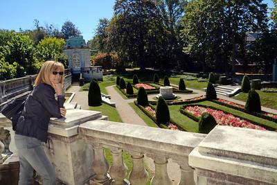 Jeanne observes Mr. Berwind's lavish sunken garden and wonders why I can't create one just like it.