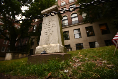 The headstone of Paul Revere's grave in the Old Granary Burying Ground....except it is quite unlikely that he is actually buried here.