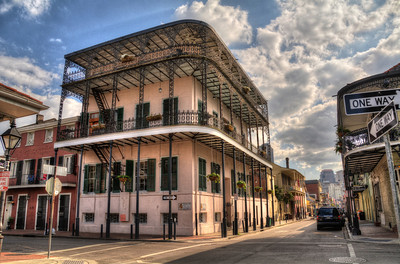 The Bourbon Orleans Hotel (717 Orleans Street) was the site of the famous quadroon balls in the 1800s, where wealthy white men would come to seek out a mistress from free women of color (who were one-eighth to one-fourth black).  The building later became a convent, home to the Sisters of the Holy Family, the second-oldest order of black nuns in the country.