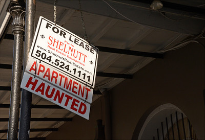 One of the rental signs along the street.  Is it an advertising gimmick...or real?
