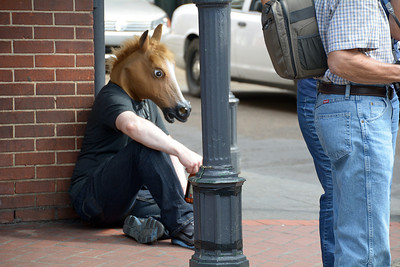 We weren't surprised to see some very strange sights along the streets of the French Quarter.