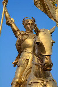 It is an exact copy of the famous 1880 Emmanuel Fremiet equestrian statue of Joan located at Place des Pyramides, Paris.