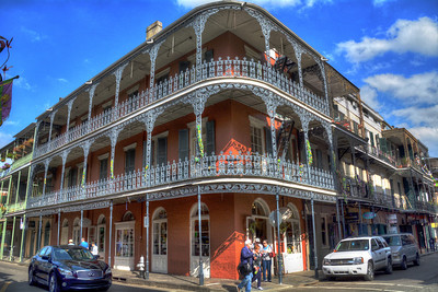 Probably the most photographed building in the French Quarter, the LaBranche House (700 Royal Street) is actually one of 11 LaBranche row house buildings built in the city between 1835 and 1840 for the widow of the wealthy sugar planter Jean Baptiste LaBranche.
